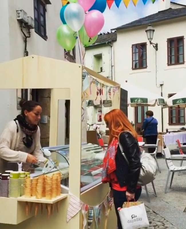 eventos carrito helados artesanos Lugo bodas comuniones fiestas